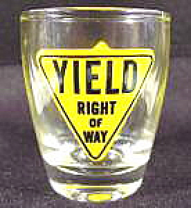 Barware ~ Slippery When Wet Shot Glass (Image1)