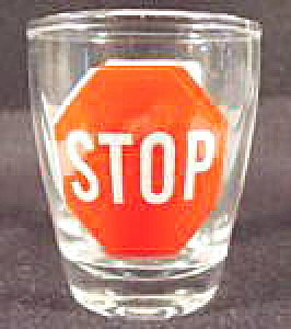 Barware ~ Stop Sign Shot Glass (Image1)