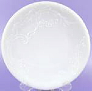 Embossed Antique Milk Glass Plate