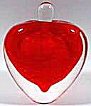 Perfume Bottle - Red Glass Paperweight Heart (Image1)