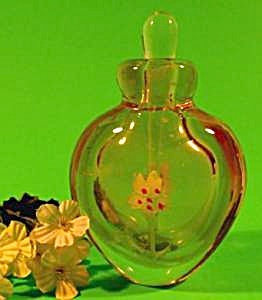 Glass Paperweight Perfume Bottle - Amber (Image1)
