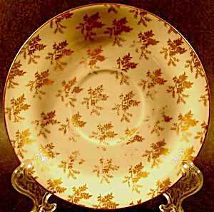 Limoges Gold Fern Pattern Saucer