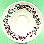 Warwick 1949 Ironstone Floral Saucer