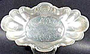 Aluminum Scalloped Bowl - Krischer - Floral And Scroll