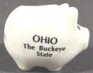 Pig Souvenir Toothpick Holder - Ohio