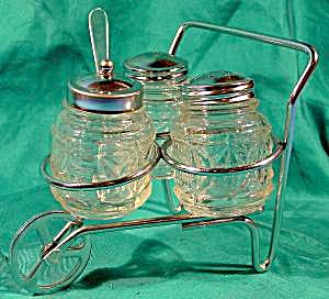 Condiment Set with Caddy Cart (Image1)