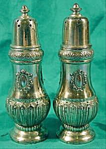Silverplated Salt And Pepper Shaker Set