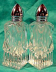 Cut Crystal Salt And Pepper Shaker - Vintage