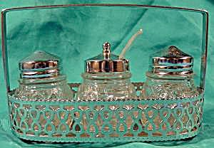 Condiment Set With Rack