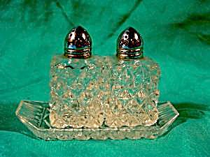 Kitchen Collectibles - Pressed Glass Shaker Set & Tray