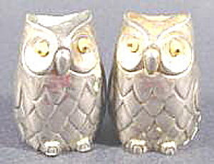 Kitchen Collectibles - Silverplated Owl Shaker Set