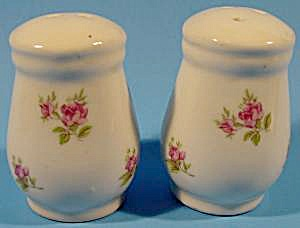 Kitchen Collectibles - -porcelain Shaker Set With Rosebu