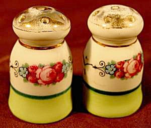 Floral Porcelain Salt & Pepper Shaker Set - Vintage