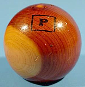 Kitchen Collectibles - Wood Ball Pepper Shaker