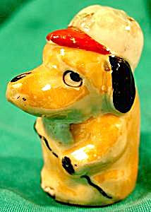 Luster Dog With Baseball Cap - Shaker - Vintage