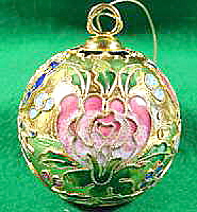 Cloisonne Christmas Ornament ~ Metal and Enamel (Image1)