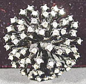 Costume Rhinestone Atomic Starburst Brooch Pin  (Image1)