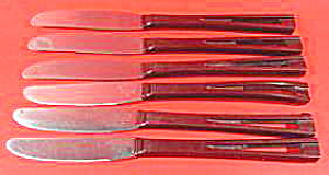 Stainless Dinner Knives - Bakelite Handles