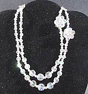 Aurora Borealis Crystal Necklace and Earring Set (Image1)