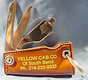 Advertising Keychain Implement Set - Yellow Cab (Image1)