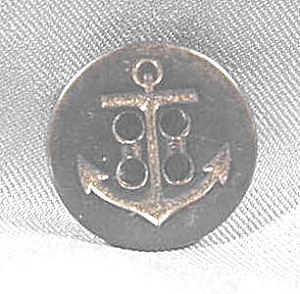 Button ~ Black 4 Hole Navy Button with Anchor (Image1)