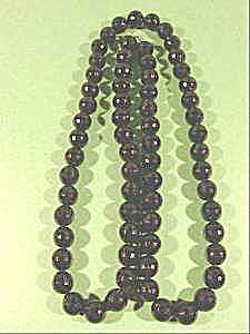 Black Faceted Bead Necklace - 36 inch - Plastic (Image1)