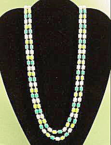 Plastic Bead Rope Necklace - 52 inches - Vintage (Image1)