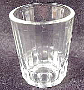 Barware ~ Early Shot Glass with Vertical Ribs (Image1)