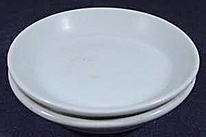 Butter Pats Pair - White China