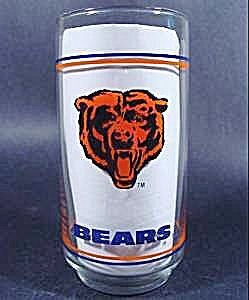 Mobil Oil Glass - Chicago Bears Nfl - 1988