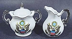 Bicentennial Cream and Sugar Set ~ kitchen Collectibles (Image1)