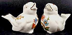 Bird Shaker Set - Bone China - Gold Trim