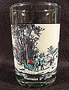 Currier & Ives Winter Pastime Glass 1981 - Arby's
