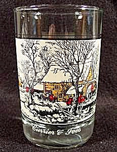 Currier & Ives Frozen Up Glass - 1981 Arby's
