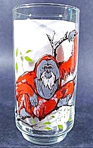 Endangered Species 1978 Collector Glass - Orangutan