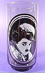 Actor Charlie Chaplin Glass - Arby's Collector Series