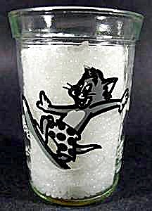 Tom & Jerry Drinking Glass - Tom Surfing - 1990 (Image1)