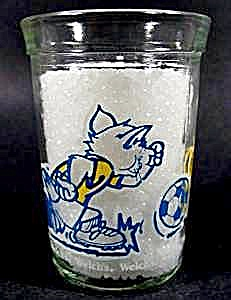 Tom & Jerry Glass - Playing Soccer - 1991 Welch's (Image1)