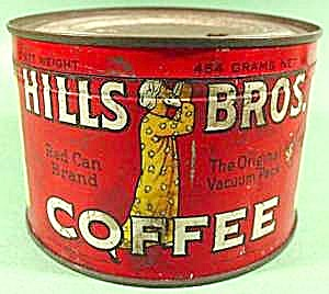 Hills Bros. Coffee Tin - 1 Pound Size (Image1)