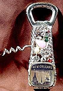 New Orleans Jeweled Souvenir Opener Corkscrew