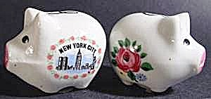 New York City Souvenir Pig Shaker Set - Ceramic