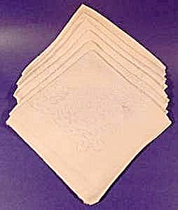 Cream Damask Napkins - Set Of 6