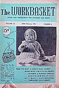 The Work Basket Knit & Crochet Book - February 1951