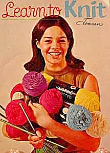 Learn To Knit Book - 1968