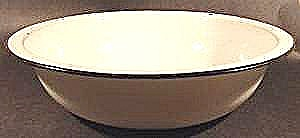 White Graniteware Wash Basin w/ Black Trim - 12-1/2 in (Image1)