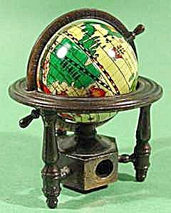 Metal Globe On Stand Pencil Sharpener