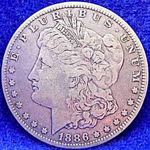 Morgan Type Silver Dollar Coin - 1886-o