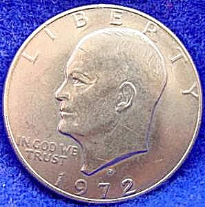 Eisenhower Dollar Coin - 1972-d