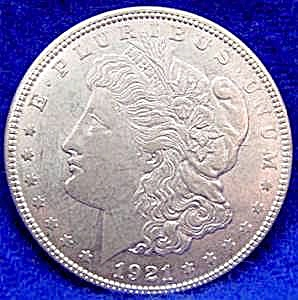 Morgan Type Silver Dollar Coin - 1921