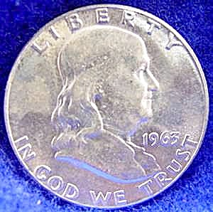 Franklin Silver Half Dollar Coin - 1963